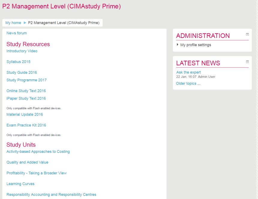 CIMA Exam Tips